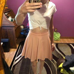 Mauve colored scuba skirt